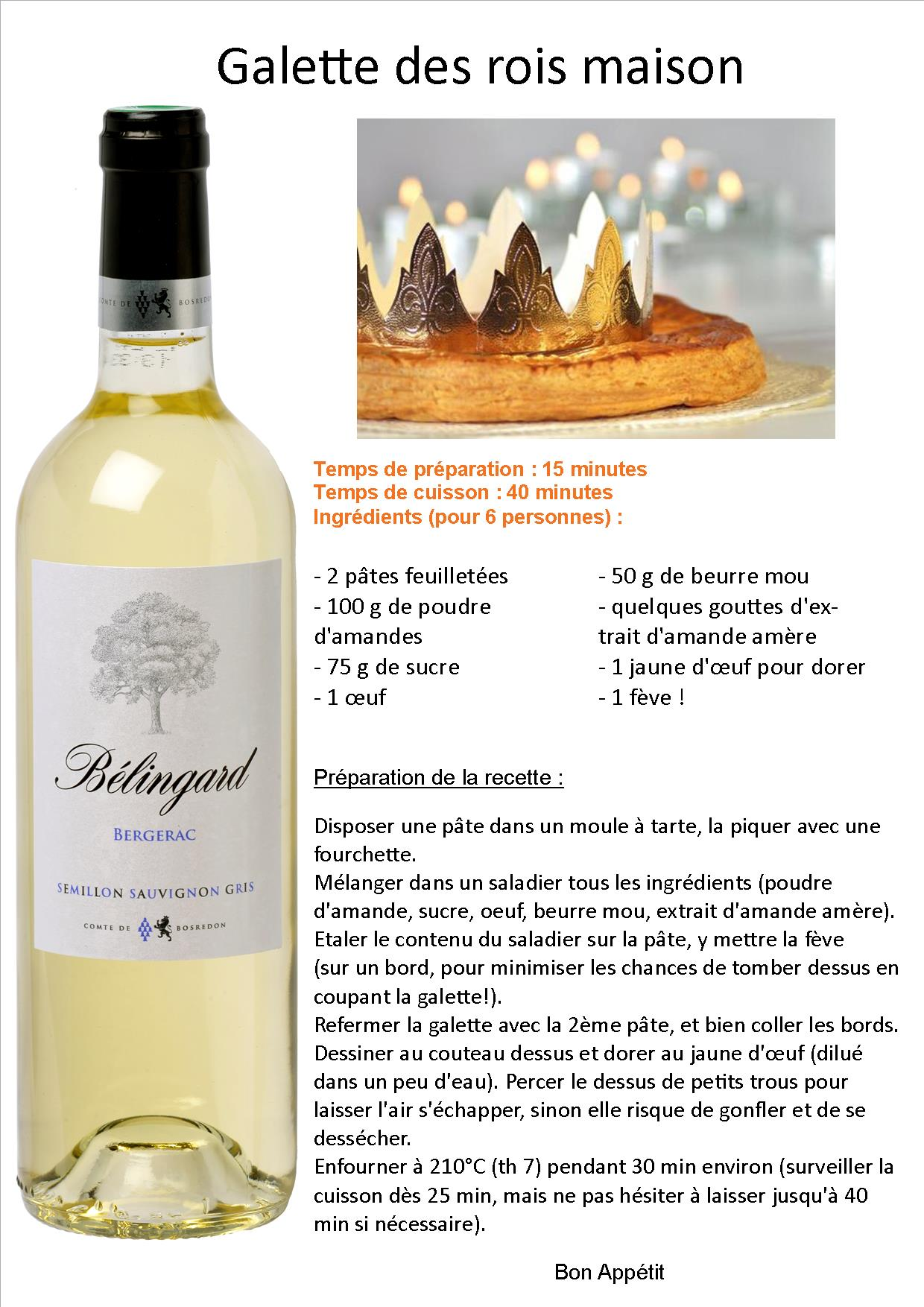 Recipes vin de bergerac vin de monbazillac ch teau - Deco galette des rois ...