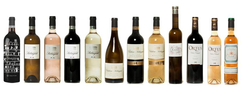 Gamme des vins Château Bélingard